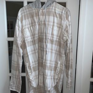Pacsun flannel hoodie